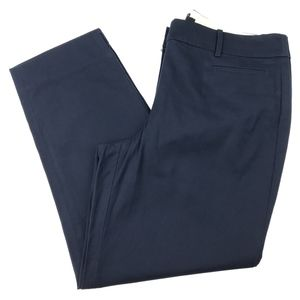Talbots Women'sThe Perfect Crop Pants in Navy Blue